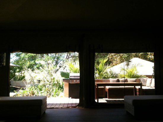 The Billi Resort: inside looking out