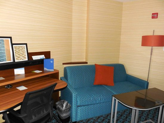 Fairfield Inn & Suites Watertown Thousand Islands : Couch / hideabed