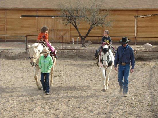 Tombstone Monument Ranch : Grandchildren riding