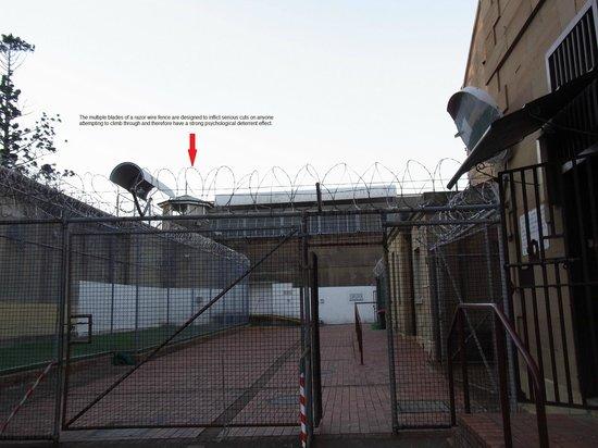 Maitland Gaol: Inside front gate