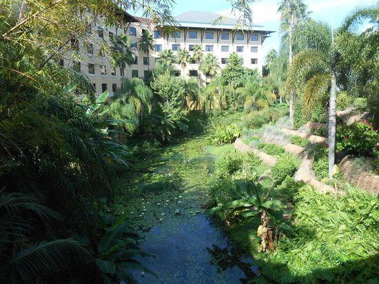 Loews Royal Pacific Resort at Universal Orlando : view from entrance bridge