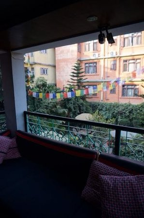 Hotel Ganesh Himal: from the second floor looking at the garden