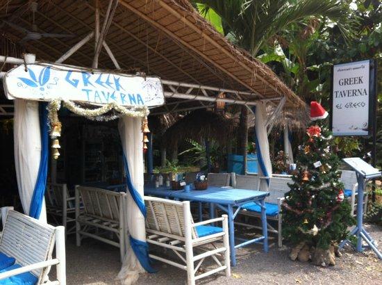 Greek Taverna: Outside of restaurant