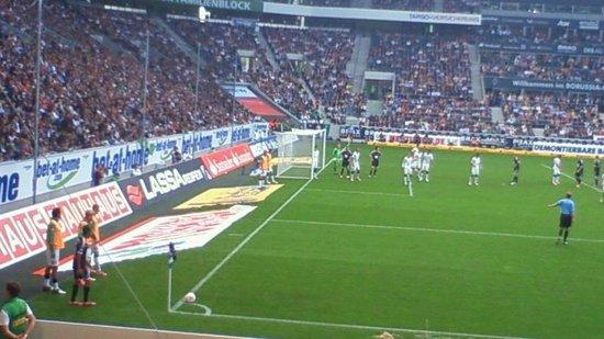 Borussia-Park: 観戦したのは、このあたりです。チケット取るのは大変です。