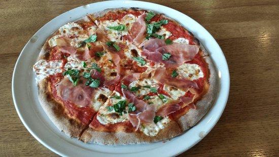 Rosedale Brick Oven : Margarita pizza with prosciutto.