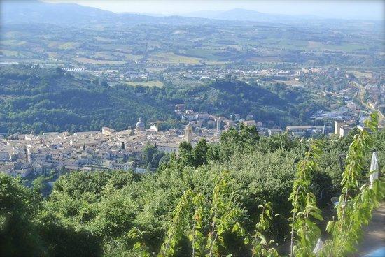 Eremo delle Grazie: View of Spoleto