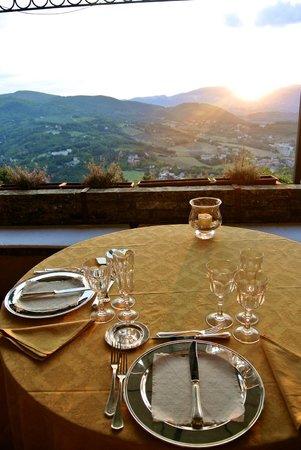 Eremo delle Grazie: View from dinner