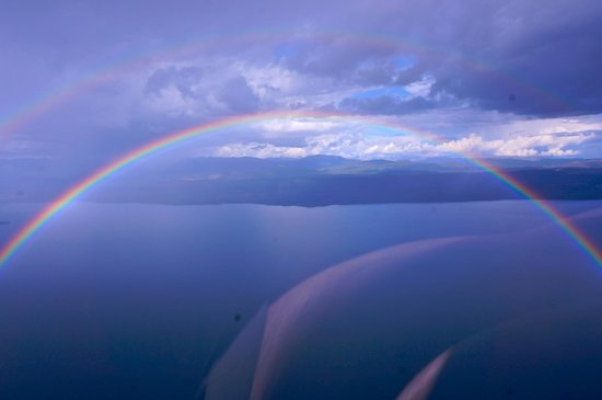Southern Lakes Helicopters: on the way back; another amazing sight after the rain shower