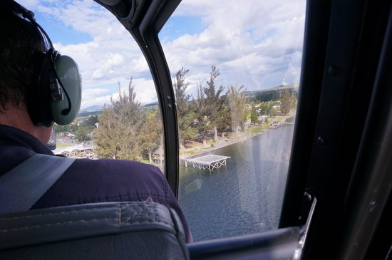 Southern Lakes Helicopters: Landing pad at Te Anau
