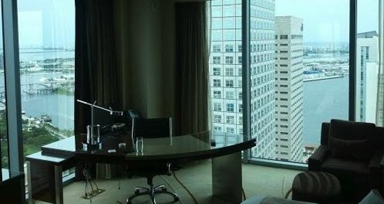 JW Marriott Marquis Miami: view from the apartments on top floors.