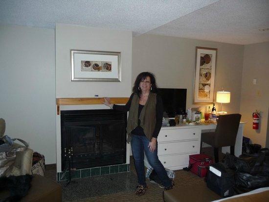 Sherwood Inn: Fireplace