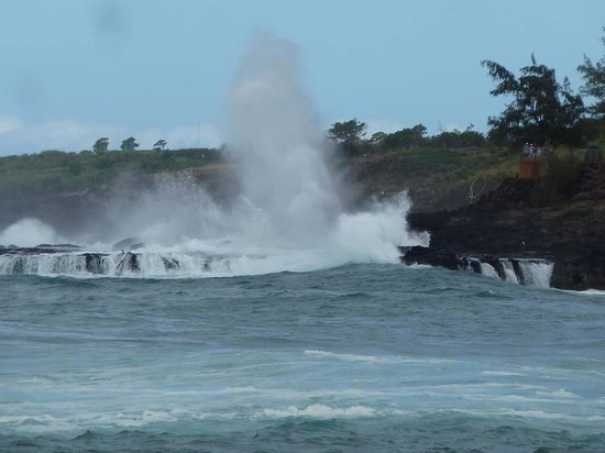 Spouting Horn in Poipu.