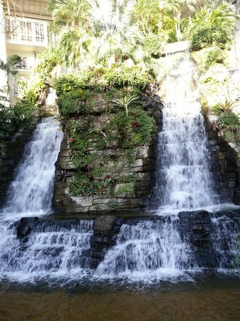 Opryland Hotel Gardens: One of the many waterfalls in the gardens.