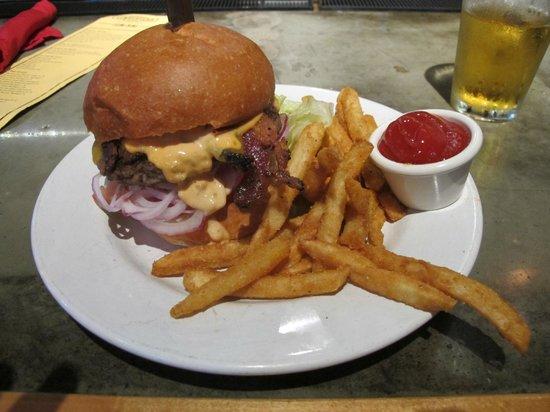 Lumberyard Rotisserie and Grill: Epic Lumberyard Burger $11.99