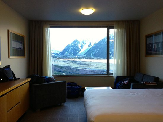 The Hermitage Hotel : Room with view of Mt Cook