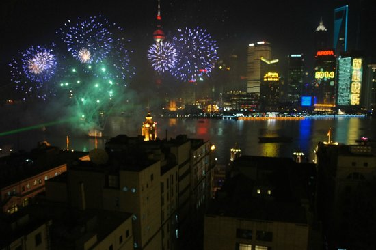 Waldorf Astoria Shanghai on the Bund: new year from the room