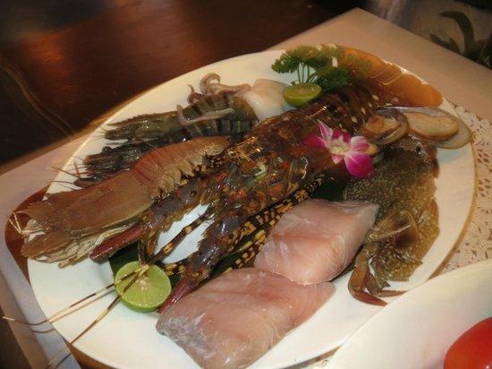 Villa Elisabeth: Seafood taeglich frisch keine Produkte von der Zucht