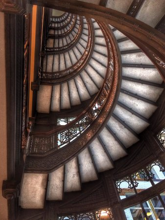 The Rookery: View of stairs from below