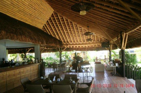 mangodlong paradise beach resort bamboo cafe interior