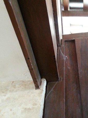 Langkawi Lagoon Resort: Spider webs in the room