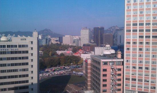 The Westin Chosun Seoul: View from Executive Breakfast area