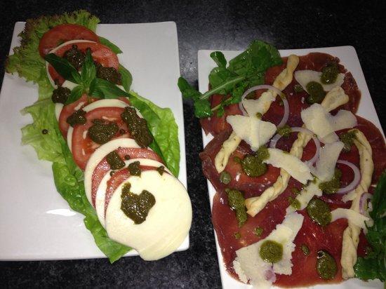 Al Pescatore : Our Basilico salad and our Beef Carpaccio