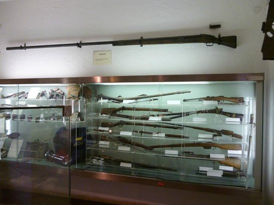 Museo Criminologico: Gun display