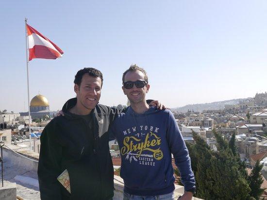 Just Jerusalem Tours -  Day Tours : Jerusalem with Dvir (on left)