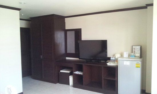 White Patong: TV and cabinet