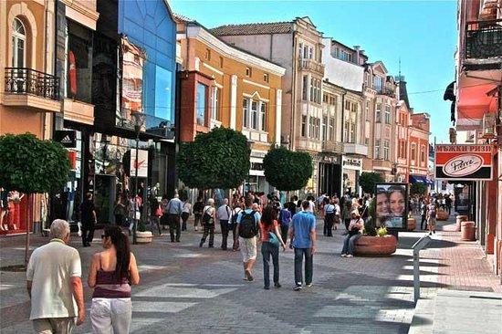 Plovdiv Old Town : Plovdiv pedestrian street