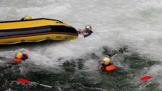 River Rats Raft & Kayak: after the 7m waterfall