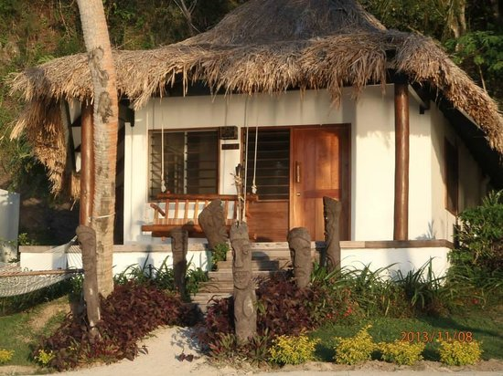 Tropica Island Resort: This was the Beachfront Bure we stayed in