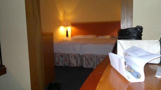 Hotel Harmony: La mia camera (doppia) era molto grande, comoda e pulita, la luce è un poco bassina.