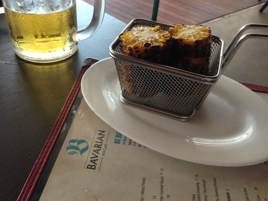The Bavarian at Manly Wharf: The must have Corn