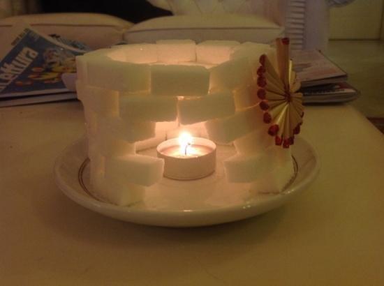 Hotel Viscardo: sugar candle