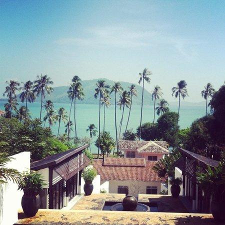 The Vijitt Resort Phuket: View of the beach from the rotunda