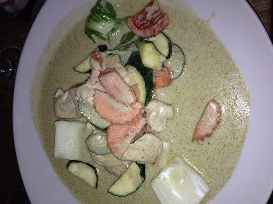 TUK TUK : Thai Street Food : Riz poulet curry vert