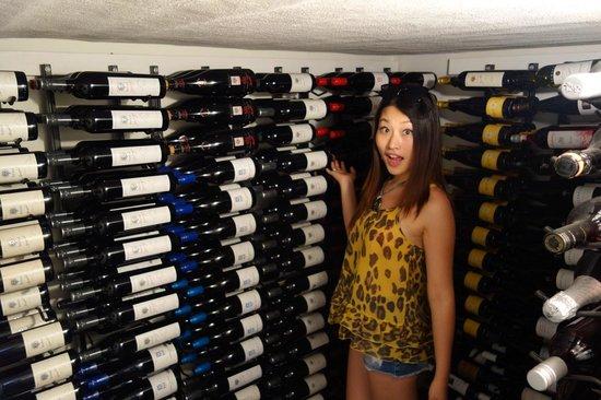 The Paddocks at Whistler Farm: The wine cellar!