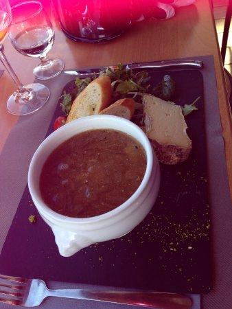 Restaurant du Lac : French onion soup