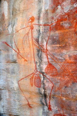 Aborigine art at Ubirr