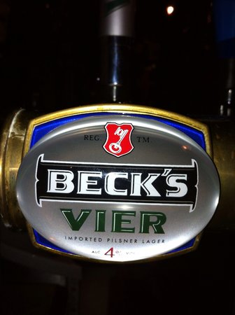 Becks Vier Premium Lager - now available at Columbia Taverna