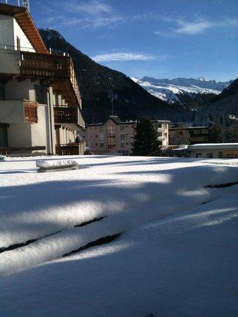 Turmhotel Victoria Davos: Vista dalla nostra camera