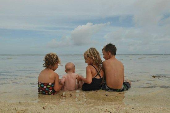 Sand Island Beach Cottages: the beach at sand island