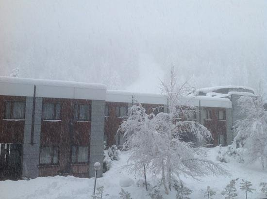 Hotel Rive: some good snow - 1st floor balcony view