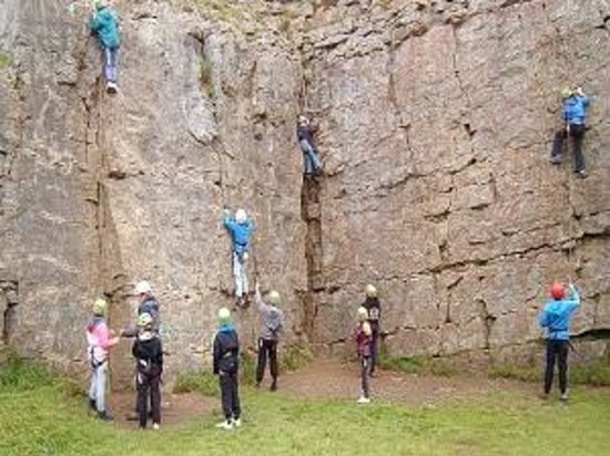 Brampton, UK: group rock climbing