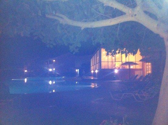 Cyprotel Corfu Panorama : View from pool bar at night