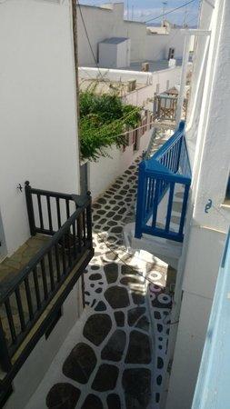 Hotel Carbonaki : View from room balcony