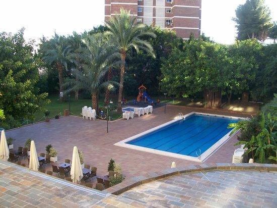 HOTEL BENILUX PARK: Pool area and garden.