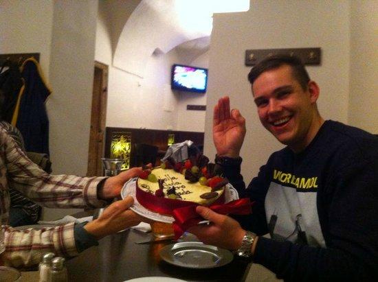 Lokal - U Bile Kuzelky: The cake was delivered...and eaten