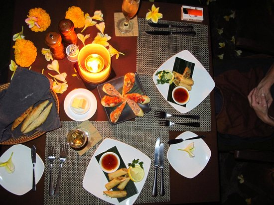 Jamahal Private Resort & SPA: Candle Light Dinner
